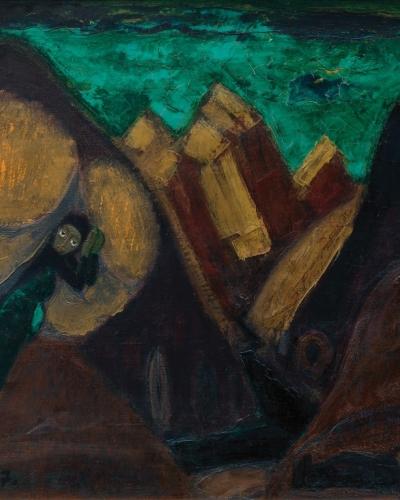 Klavdij Zornik, Trenta, 1977, olje, platno, zasebna zbirka