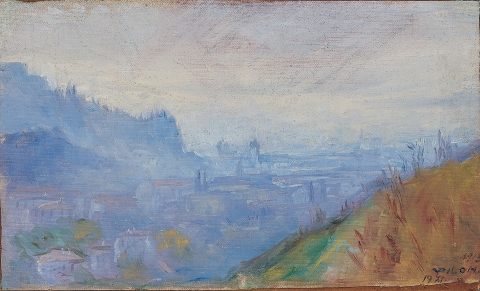 Mesto v megli (Gorica), 1914